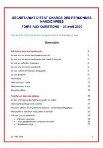 FAQ 29 avril 2020